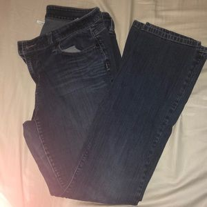 Flare blue jeans
